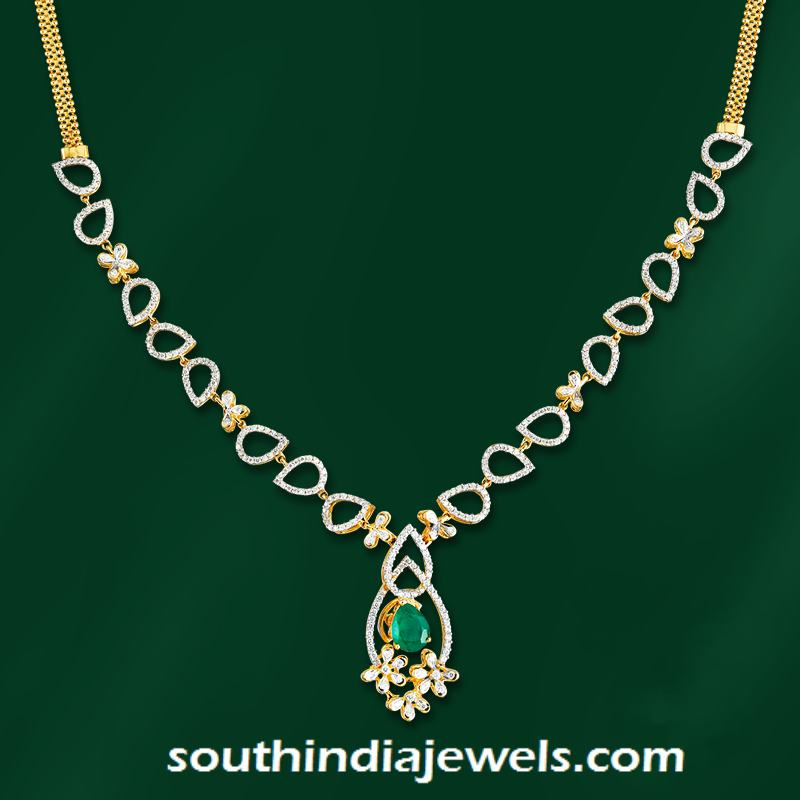 Stylish Designer Diamond Necklace from GRT