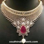 Floral Ruby Diamond Necklace