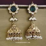 Gold Antique Jhumka from Manubhai