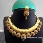 Gold Designer Antique Ruby Necklace