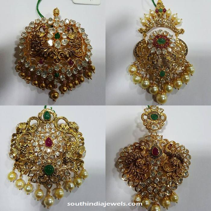 Gold Antique Stone Pendant Designs