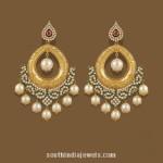 Gold Chandbali Earrings from TBZ