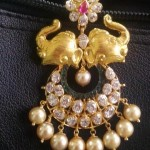 22 Carat Gold Elephant Pendant with Pearls
