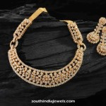Gold Plated CZ Stone Necklace