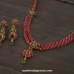 Gold Plated Ruby Necklace Design