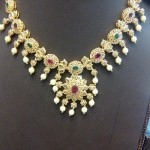 Light Weight Fancy Gold Necklace