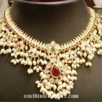 Gold Pearl Guttapusalu Necklace