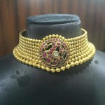 Traditional Gold Antique Choker Necklace