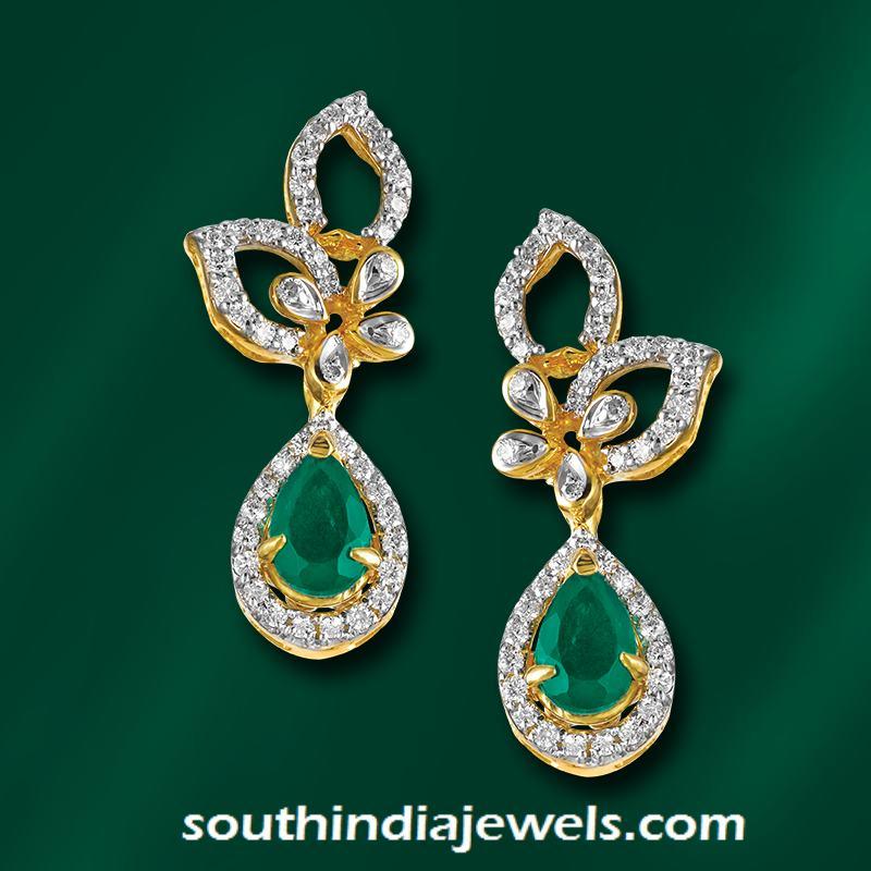 Diamond Emerald Earrings from GRT JEwellers