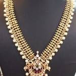 Gold Pearl Long Necklace Design