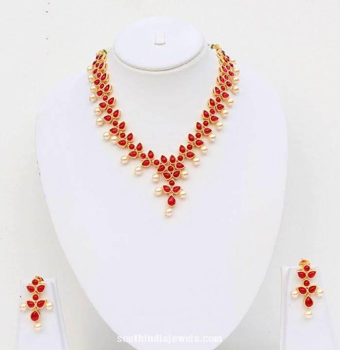 Artificial Pearl Polki Necklace