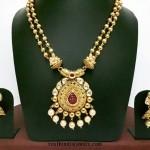 1 Gram Gold Kundan Haram with Jhumka