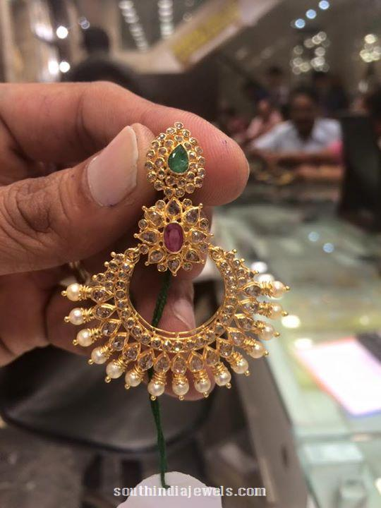 Latest gold earrings design with weight 18 grams