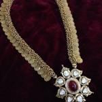 Gold Antique Long Coin Necklace Design