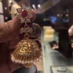 CZ Stone Jhumka with Pearls