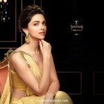 Deepika Padukone in Tanishq Gold Earrings