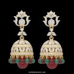 Diamond Jhumka Earrings from Kothari Jewellery