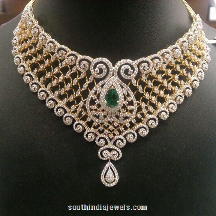 Emerald Diamond Choker from PSJ