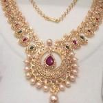 Gold Stone Mango Mala Necklace