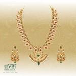 Gold Mango Mala Necklace Set from VBJ