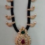 22K Gold Black Thread Chain Necklace