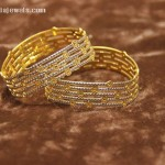 Gold Designer Bangles from Manubhai Jewellers