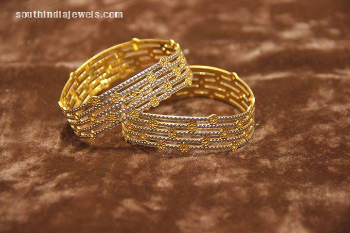 Gold Designer bangles from Manubhai
