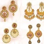 Gold Earrings Design from GRT