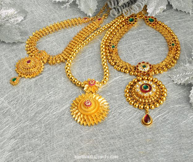 22K gold necklace designs from Josalukkas