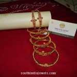 Gold Ruby Emerald Bangles Models