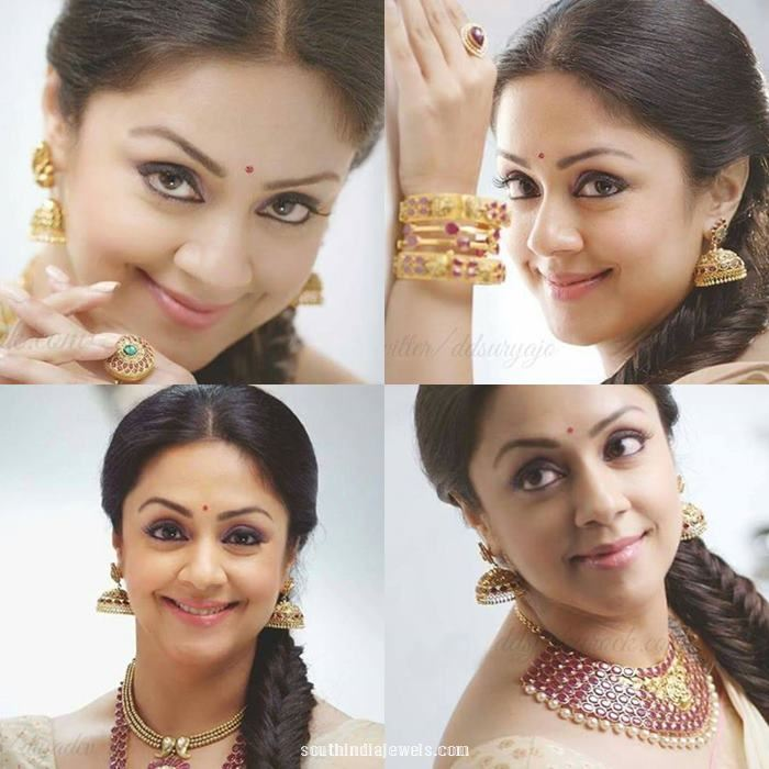 Jyothika jewelleries in Saravana Elite advertisement