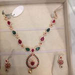 Multi Color Gold Stone Necklace