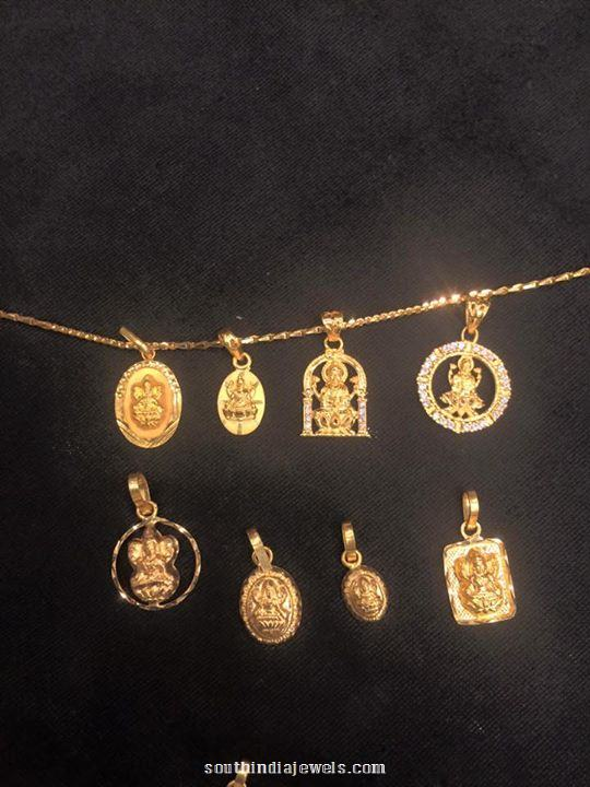 22K Gold Chain Pendants