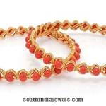 22K Gold Coral Bangle Design