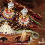 Multi Color Fancy Gold Earrings From Manubhai