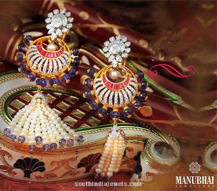Fashion jewellery gold earrings manubhai jewellers