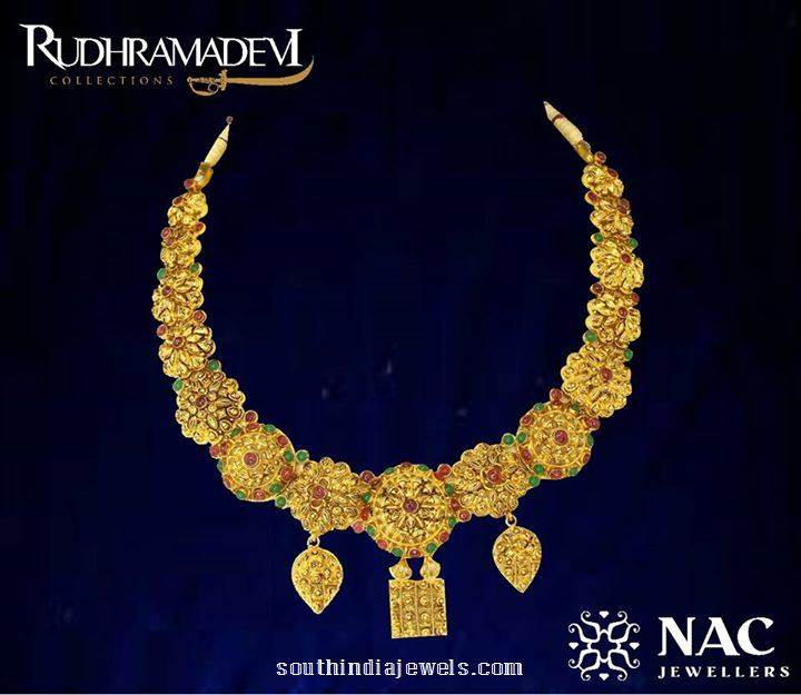 Gold Necklace Design from NAC Jewellers Rudramadevi Collections