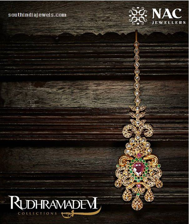 Gold Tikka from NAC Jewellers Rudramadevi Collections