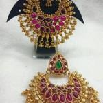 One Gram Gold Ruby Chandbali