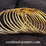Simple Daily Use Gold Bangles Designs