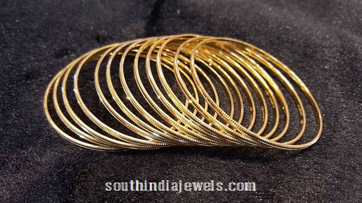 Simple Daily Use Gold Bangle Designs