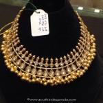 105 Grams Gold Polki Necklace Design