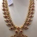 Gold Polki Mango Necklace Design