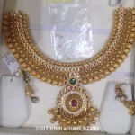 130 Grams Grand Gold Attiagai Necklace