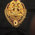 22K Gold Antique Lakshmi Pendant From PSJ