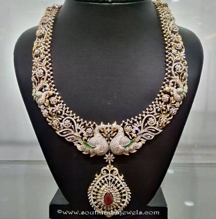 22k gold peacock diamond haram