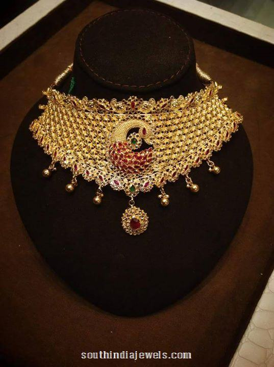 22 Carat gold Ruby Choker Necklace