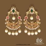 22K Gold Chandbali Earrings from TBZ