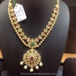 22K Gold Two Layer Polki Necklace