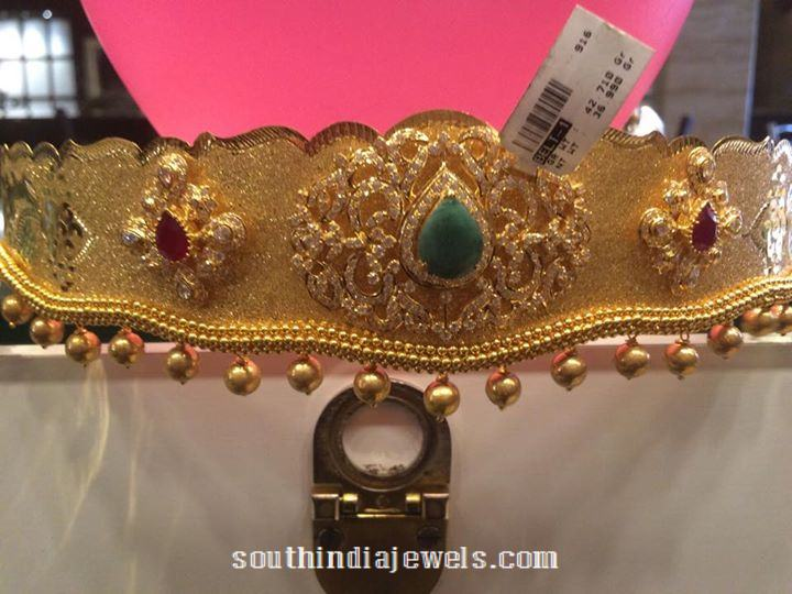 22K Gold Vadanam with weight 150 Grams